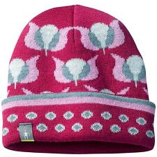 SMARTWOOL TULIP MERINO WOOL BEANIE HAT Baby or Toddler 12-24 Mo - BERRY HEATHER