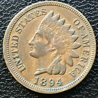 1894 Indian Head Cent 1 Cent High Grade One Penny #13076