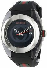 Gucci Sync Xxl (Ya137101) Stainless Steel Watch with Black Rubber Bracelet