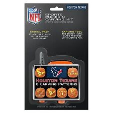 HOUSTON TEXANS--- Pumpkin Carving Kit----- Stencils for Jack-o-latern