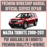 WORKSHOP MANUAL SERVICE & REPAIR GUIDE for MAZDA TRIBUTE 2000-2011 +WIRING