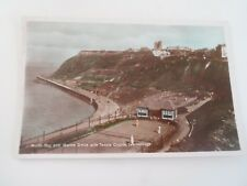 SCARBOROUGH North Bay+Marine Drive+Tennis Courts Colour Tinted Old RPPC §D455