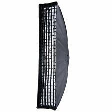 "US Godox 35x160cm 14""x63"" Strip Beehive Softbox with Honeycomb Grid Bowens"