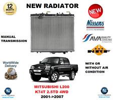 PARA MITSUBISHI L200 K74T 2.5TD 4WD 2001->2007 RADIADOR CALIDAD OE
