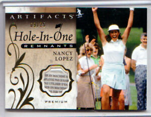 2021 UD Artifacts Golf NANCY LOPEZ HOLE-IN-ONE PREMIUM PATCH RELIC /25!