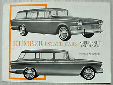 HUMBER ESTATE CARS Super Snipe & Hawk Car Sales Brochure 1964-65 #1104/H