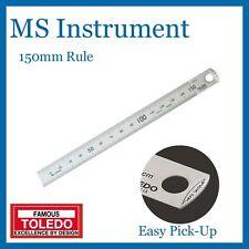 Toledo 301956 150mm - Easy Pick-UP Stainless Steel Single Side Rule Metric