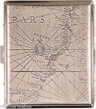 Zigarettenetui Kompass / Metall / Chrom Antik / 2seitig / Bügel / 18 Kingsize