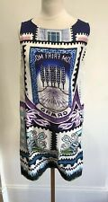 Mary Katrantzou Silk Mulicolour Slip On Dress S