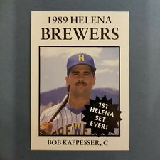 1989 Sports Pro HELENA Brewers #19 BOB KAPPESSER Auburn NEW YORK Baseball Card