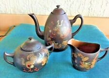Antiques, Asian Antiques, Lacquer Ware,Tea Sets,3 pc.Ming Hwa, Foochow, China