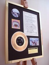 "THE BEATLES I AM THE WALRUS 7"" GOLD RECORD SINGLE + HANDWRITTEN LYRICS DISPLAY"