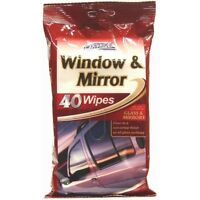 40 Pack Car Window Mirror Glass Wipes Car Pride Cleaning Polish Non-Smear Finish