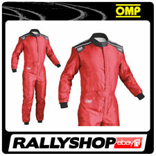 OMP KS-4 Suit Red Size L 54-56 Go Karting Racing Overall CIK-FIA 4 Layers