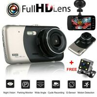 1080P Dual Lens Car DVR Dash Cam Video Recorder Camera G-sensor Night Vision