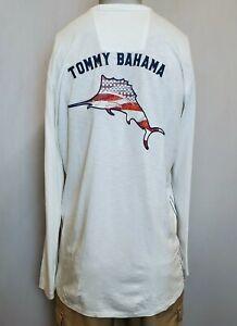 """New Tommy Bahama Men's """"Stars & Stripes"""" Long Sleeve Lux T-Shirt, 1XLB, 4XT, 4XB"""
