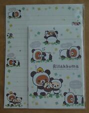 San-X Letter Sets Rilakkuma Panda De Goron Leaves