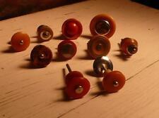 10 art deco TESTED bakelite metal Pull handles knobs 198 grams-0,436 lb (s12361)
