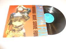 SAM FOX - I Wanna Have Some Fun - 1988 UK 12-track LP