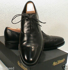 Allen Edmonds Vernon Black Oxford Dress Decorative Perforations Shoe 8.5 D