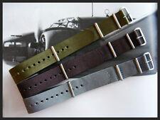 22mm Grey NATO G10 nylon watchband strap 3 pak MoD RAF Bonded IW SUISSE 18 20 24