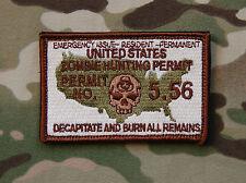 Zombie Hunting Permit Morale Patch Undead Walking Dead Multicam A-TAC Hook