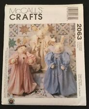 McCall's Sewing Pattern 2063 Craft Rabbit Angel Bunny Uncut