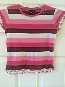 Girls 5/6 striped The childrens place short sleeve blouse top blouse