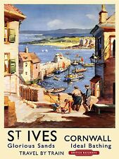 METAL VINTAGE RETRO SHABBY-CHIC ST IVES CORNWALL TIN SIGN WALL PLAQUE