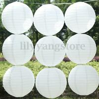 "10Pcs 4""/8""/12""/16"" Lot White Color Paper Lanterns Wedding Party Decoration"