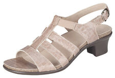 Women's sz 10 N Narrow AA  SAS  ALLEGRO TAUPE PATENT Leather CROC Sandals
