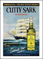 1968 Cutty Sark scots whisky ocean sail ship vintage photo print Ad ads31