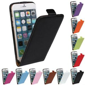 UK Luxury Genuine Real Leather Flip Case Cover for Apple iPhone 6/6S FASTPOST