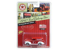 """1940 FORD DELIVERY VAN """"TEXACO"""" RED 1/64 MODEL CAR BY JOHNNY LIGHTNING JLCP7013"""