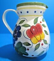 Lovely Vintage Antique Hand Painted Ceramic Pottery Pitcher  MINT