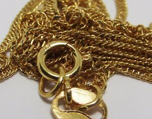 100% Genuine 21k Solid Yellow Gold Twisted Necklace Chain. 60.5cm