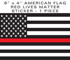 """Red Lives Matter SUPPORT FIREFIGHTERS EMS 4"""" x 6"""" bumper sticker decal 6"""" VINYL"""