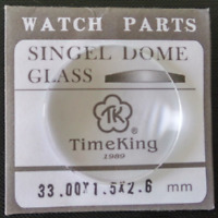 1pc 1.5mm Thick 25-42mm Single Dome Mineral Watch Glass Crystal