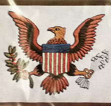 WonderArt Americana Stitchery 5135 Kit American Eagle Flag Crewel 11x14 Picture