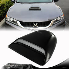 JDM Sport Racing Black Front Air Flow Hood Scoop Vent Bonnet Cover - Universal