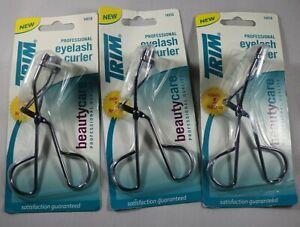 Trim Professional Eyelash Curlers & 5 Refill Pads Purple Color Lot of 3