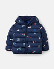 Joules Baby Boys Jessie Printed Padded Coat  - Navy Animals