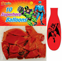 10 Super Hero Balloons - Latex Kids Party/Loot Fun Toys Bag Marvel Batman DC