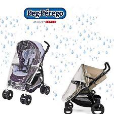 PEG PEREGO Parapioggia passeggino trasparente RAIN COVER -nuovo-Italia
