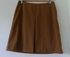 Prada brown A-line skirt with pleated front - Size Italy 38 (UK 8)