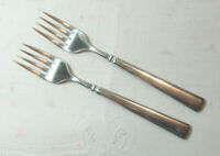 "Oneida Heirloom Cube  EASTON *2 Salad Forks* 7 1/8""  Glossy Stainless Flatware"