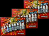 Jacquard AIR BRUSH COLORS METALLIC Transparent Opaque 24 Color Set Paint 14ml