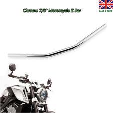"""7/8"""" 22mm Chrome Motorcycle Drag Bar Handlebar For Harley Honda Suzuki Yamaha"""