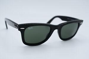 Ray-Ban Sunglasses RB 2140 901 Wayfarer Black Green Men Women Italy 50[]22 #3104