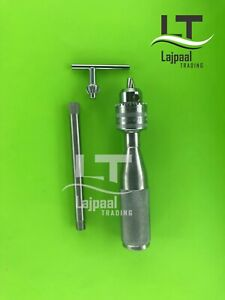 Hand Drill Chuck 16cm Stainless Steel Orthopedic Instrument Premium Quality